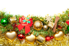 Fundo festivo do Natal decoration.card imagem de stock royalty free
