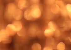 Fundo festivo do ouro com efeito do bokeh Imagens de Stock Royalty Free