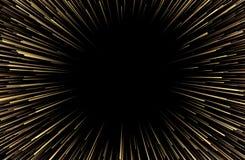 Fundo festivo dourado abstrato com fogo de artifício Ilustração Royalty Free