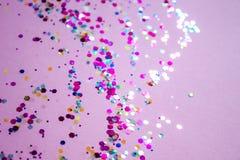 Fundo festivo lilás fotografia de stock