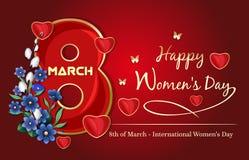 Fundo festivo para o dia das mulheres Fotos de Stock Royalty Free