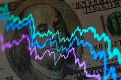 Fundo financeiro abstrato Foto de Stock Royalty Free