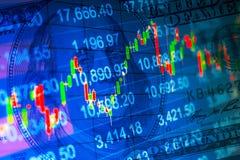 Fundo financeiro abstrato Fotos de Stock
