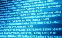 Fundo financeiro do sumário do negócio Fotografia de Stock