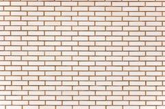 Fundo fino bege natural da textura da parede de tijolo Fotografia de Stock