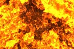 Fundo flamejante místico do sumário do inferno ou textura - ilustração do fogo 3D ilustração do vetor
