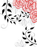 Fundo floral à moda Fotografia de Stock