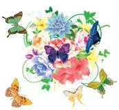 Fundo floral abstrato Fotos de Stock