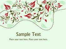 Fundo floral abstrato ilustração stock
