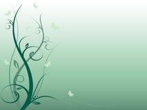 Fundo floral abstrato agradável com borboletas Imagens de Stock Royalty Free