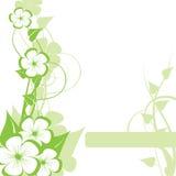 Fundo floral abstrato com Imagem de Stock Royalty Free