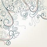 Fundo floral abstrato com caracóis Imagens de Stock Royalty Free