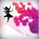 Fundo floral abstrato com fairy Imagem de Stock