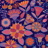 Fundo floral abstrato, teste padrão sem emenda do tema do verão, parede Fotos de Stock Royalty Free