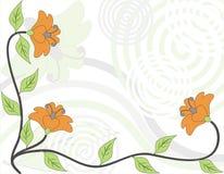 Fundo floral abstrato, vetor Fotos de Stock Royalty Free