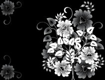 Fundo floral abstrato, vetor ilustração royalty free