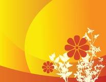 Fundo floral alaranjado ilustração stock