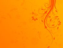 Fundo floral alaranjado ilustração royalty free