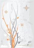 Fundo floral alaranjado cinzento ilustração stock