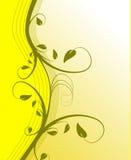 Fundo floral amarelo Foto de Stock