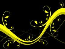 Fundo floral amarelo Fotos de Stock