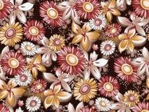Fundo floral antigo sem emenda do teste padrão de flor mono ilustração stock