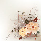 Fundo floral artístico Fotografia de Stock