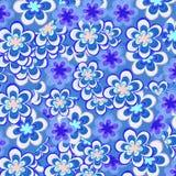 Fundo floral azul Imagem de Stock Royalty Free