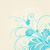 Fundo floral azul Fotografia de Stock