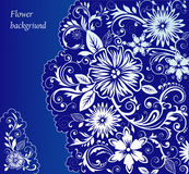 Fundo floral azul Foto de Stock