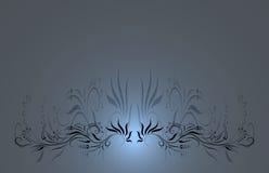 Fundo floral azul Ilustração Stock