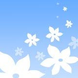 Fundo floral azul Fotos de Stock Royalty Free