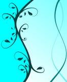 Fundo floral azul ciano Imagens de Stock Royalty Free