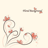 Fundo floral bonito ilustração royalty free