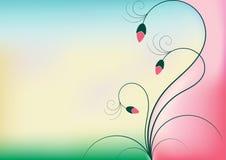 Fundo floral borrado Imagens de Stock Royalty Free