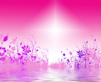 Fundo floral brilhante imagens de stock