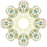 Fundo floral circular dois Fotografia de Stock Royalty Free