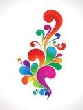 Fundo floral colorido abstrato Fotos de Stock