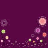 Fundo floral colorido do frame Fotos de Stock