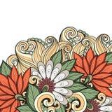 Fundo floral colorido vetor Foto de Stock