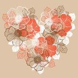 Fundo floral com as flores da peônia Imagens de Stock Royalty Free