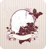 Fundo floral com borboletas ilustração stock