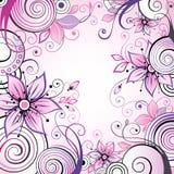 Fundo floral com caracóis Fotografia de Stock Royalty Free