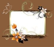 Fundo floral com espaço para o texto Imagens de Stock