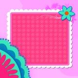 Fundo floral com espaço vazio Imagens de Stock