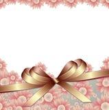 Fundo floral com fita ilustração royalty free