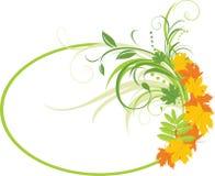 Fundo floral com folhas de plátano. Quadro Foto de Stock Royalty Free