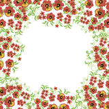 Fundo floral com folhas, redemoinhos Ornamento tradicional do russo Teste padrão sem emenda do vetor no estilo de Hohloma Imagem de Stock