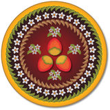 Fundo floral com formas coloridas Imagem de Stock Royalty Free