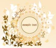 Fundo floral com frame Fotografia de Stock Royalty Free